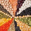 Mix from different beans, legumes, peas, lentils — Stock Photo #14090785