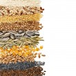 Stock Photo: Cereal Grains and Seeds