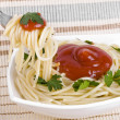 Stock Photo: Spaghetti with tomato sauce