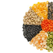 Mix from different beans, legumes, peas, lentils — Stock Photo