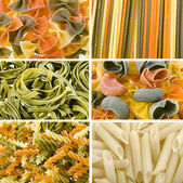 Colored dry Italian pasta — Stock Photo