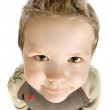 Comic portrait of the small boy - Stock Photo