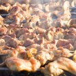 Stock Photo: Cooking chicken barbecue outdoors