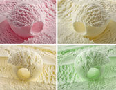 Color ice cream — Stock Photo