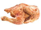 Gebakken kip geïsoleerd op een witte achtergrond — Stockfoto