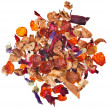 Royalty-Free Stock Photo: Mixture herbal floral fruit tea with petals and dry berries isolated on white background