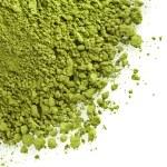 Powdered green tea isolated on white background — Stock Photo