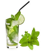 Fresh mojito isolated on white background — Fotografia Stock