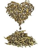 Grönt te blad isolerad på vit bakgrund — Stockfoto