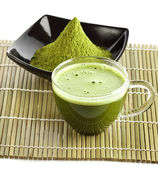Powdered green tea — Stock Photo