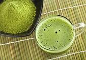 Powdered green tea — Stock Photo