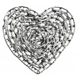 Chain in the shape of a heart — Stock Photo #14162204