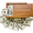 Americmoney in box — Stock Photo #14162598