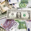 Dollars and euro background - Foto Stock