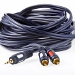 Cable with audio jack — Stock Photo
