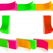 Frame of colorful paper stickers for your text — Stock Photo