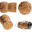 Cork-stopper of champagne on white background — Stok Fotoğraf #14163503