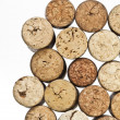 Wine corks isolated on white background - Stock Photo