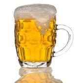 Mug of beer isolated on the white background — Stock Photo