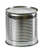 Steel can isolated on the white background — Stock Photo