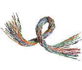 Colorful wire isolated on white — Stock Photo