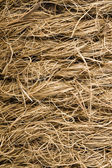 Coarse coir rope from coconut fiber — Stock Photo