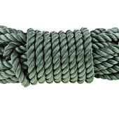 Skein of cable rope isolated over white — Stock Photo