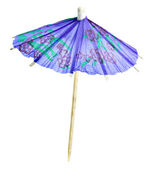 Paper umbrella isolated on a white background — Stock Photo