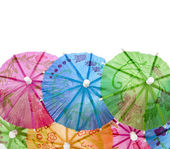 Colourful paper umbrellas — Stock Photo