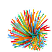 Colored flexible straws — Stock Photo