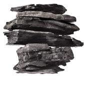 Black coal isolated on white background — Stock Photo