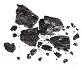 Black coal isolated on white background — Stock Photo