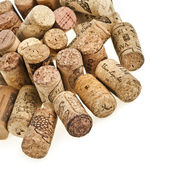 Wine corks isolated on white background — Stock Photo