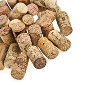 Wine corks isolated on white background — Stock Photo