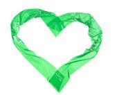 Srdce znamení, zblízka lepicí pásky izolovaných na bílém pozadí — Stock fotografie