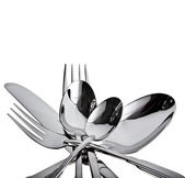 Fork knife and spoon on a white background — Stock Photo