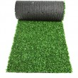 Stock Photo: Roll green grass for tennis isolated on white background