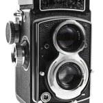 Retro camera on white — Stock Photo