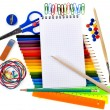School tools, back to school background — Stock Photo #14379003