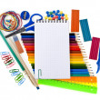 School tools, back to school background — Stock Photo #14379013