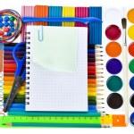 School tools, back to school background — Stock Photo