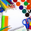 School tools, back to school background — Stock Photo #14379035