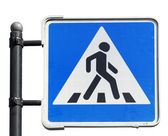 Pedestrian road sign on white background — Stock Photo