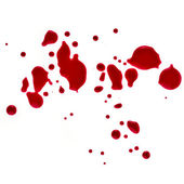 Splattered blood stains — 图库照片