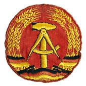 Old the emblem of the German Democratic Republic (GDR) — Stock Photo
