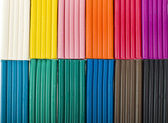 Crianças cor de fundo de plasticina — Fotografia Stock
