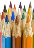 Colorful pencils on a white background — Stock Photo