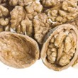 Stock Photo: Walnut isolated on white background