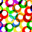 Colorfull rings background — Stock Photo