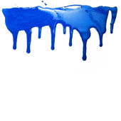 Paint dripping isolated on white background — Stock Photo